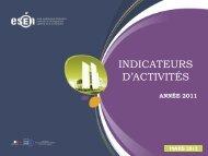 Indicateurs d'activité de formation 2011 - Esen