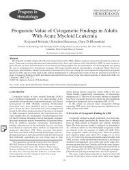 Prognostic Value of Cytogenetic Findings in Adults With Acute ...
