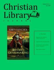 young adult books - Christian Library Journal