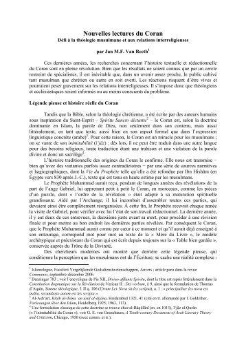 Nouvelles lectures du Coran - Quinson, Henry