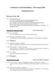 Tagungsprogramm - Arbeitskreises für Archäometrie und ...
