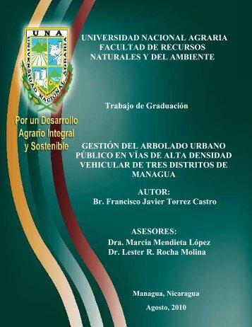 UNIVERSIDAD NACIONAL AGRARIA FACULTAD DE RECURSOS ...