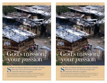 God's mission, your passion God's mission, your passion