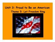 Unit 3: Proud to Be an American Theme 5