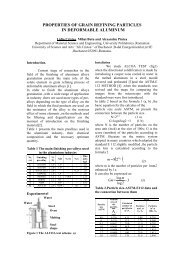 properties of grain refining particles in deformable aluminum