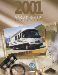 2001 Holiday Rambler Vacationer Brochure - Guarantee RV