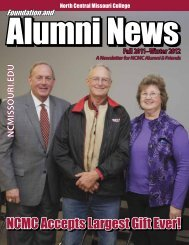 NCMC Accepts Largest Gift Ever! - North Central Missouri College