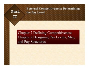 Chapter 7 -- Defining competitiveness - College of Business ...