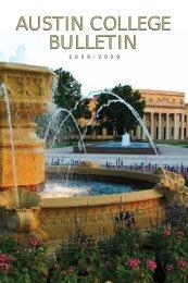 Bulletin 2008-2009 - Austin College