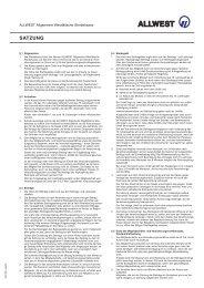 ALLWEST Satzung [Fo.-Nr. 2001301 Aug09] (65 kB)