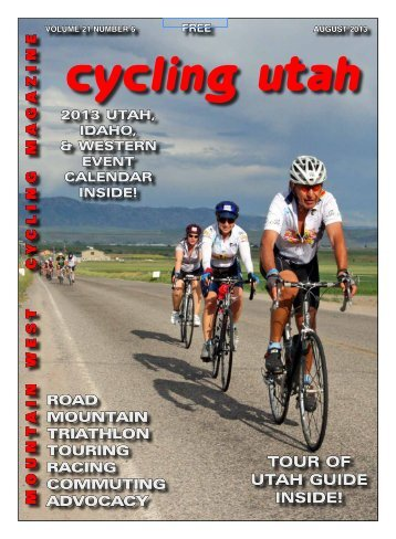 August 2013 Issue - Cycling Utah