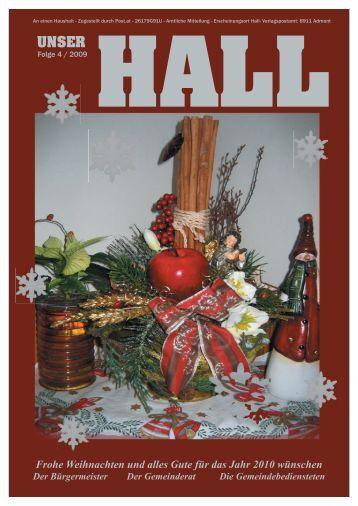 Frohe Weihnachten und alles Gute für das Jahr ... - Gemeinde Hall