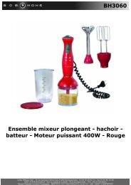 BH3060 Ensemble mixeur plongeant - hachoir ... - BOB HOME