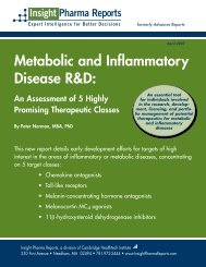 Metabolic and Inflammatory Disease R&D: - Insight Pharma Reports