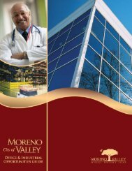 Office and Industrial Opportunities - City of Moreno Valley