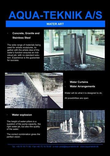 Water art - aqua-teknik a/s