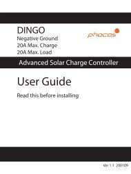 Dingo User Manual - Phocos.com