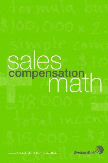Sales Compensation Math - WorldatWork