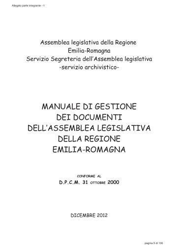 Manuale di gestione - Assemblea Legislativa