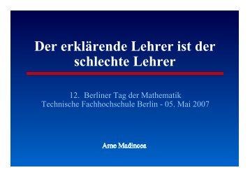 Folien - Beuth Hochschule für Technik Berlin