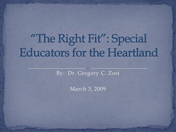 Special Educators for the Heartland - Peru State College