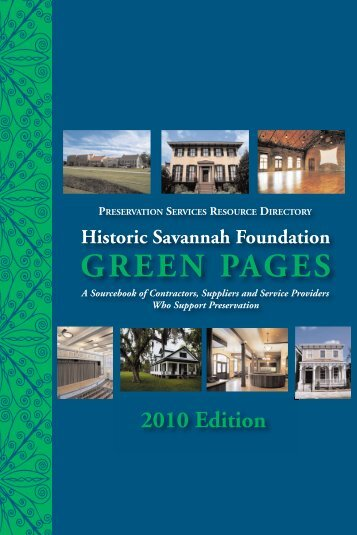 2010 GREEN PAGES - Historic Savannah Foundation
