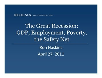 Download Presentation by Ron Haskins - National Poverty Center