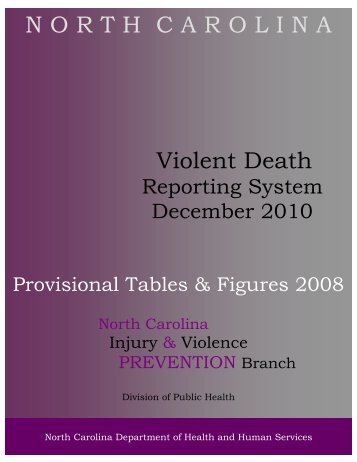 2008 Provisional Tables_122810 - NC Injury and Violence ...