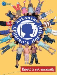 Read our Report to the Community - Arkansas Children's Hospital