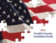 2012 Franklin County Candidate Guide