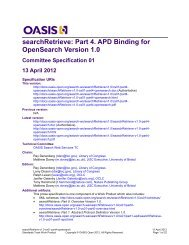 searchRetrieve: Part 4. APD Binding for OpenSearch Version 1.0