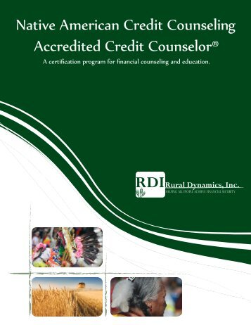 Native American Credit Counseling Accredited ... - Rural Dynamics