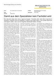 Damit aus dem Spezialisten kein Fachidiot wird - Dr. Kraus & Partner
