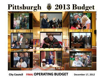 2013 Operating Budget - City of Pittsburgh