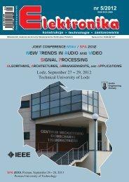 Elektronika 2012-05.pdf - Instytut Systemów Elektronicznych ...