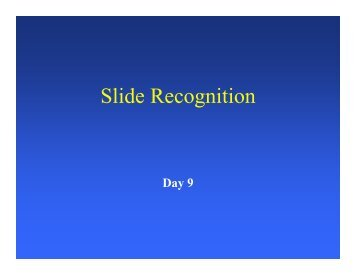 Slide Recognition