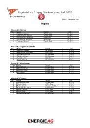 Ergebnisliste Steyrer Stadtmeisterschaft 2007 Regatta - Kanuverband