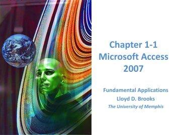 การใช้โปรแกรม Microsoft Acess 2007