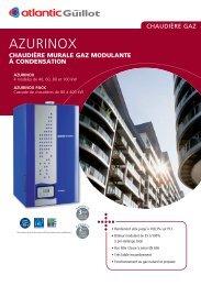 chaudière murale gaz modulante à condensation - Atlantic