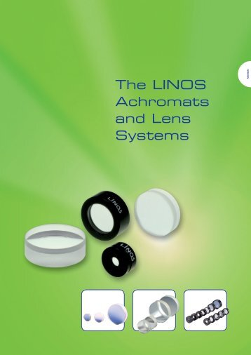 The LINOS Achromats and Lens Systems - Qioptiq Q-Shop