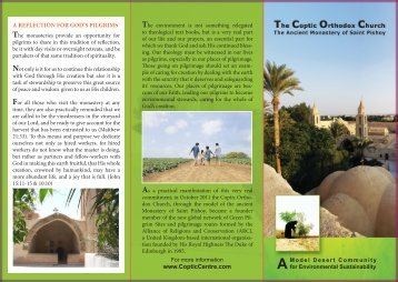 St Pishoy Environment Leaflet - Alliance of Religions and ...