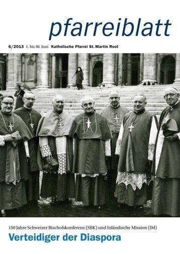 Pfarreiblatt Juni 2013 - Pfarrei Root