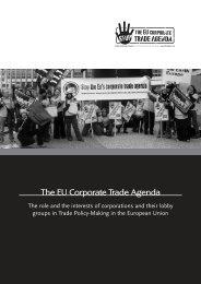 The EU Corporate Trade Agenda - Weed