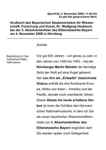 schaft, Forschung und Kunst, Dr. Wolfgang Heubisch, bei der 3 ...