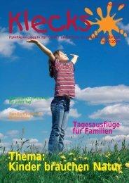 Thema: Kinder brauchen Natur - Klecks