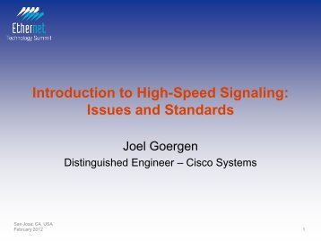 Introduction to High-Speed Signaling: Issues and Standards