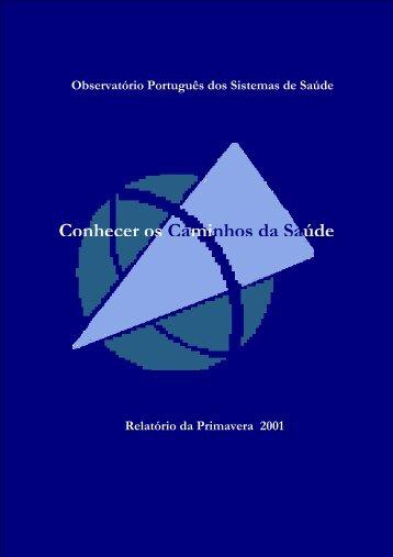 2001 - Escola Nacional de Saúde Pública - Universidade Nova de ...