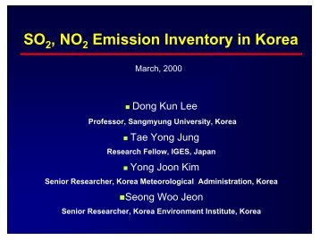 SO , NO Emission Inventory in Korea