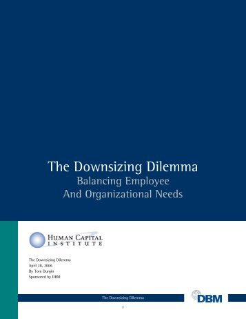 Download - The Downsizing Dilemma.pdf - Workinfo.com