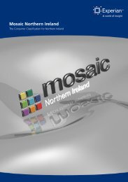 Mosaic Northern Ireland brochure - Experian